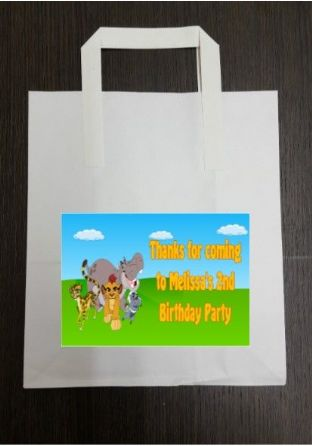 4 x The Lion Guard Birthday Party Bags with Personalised Sticker